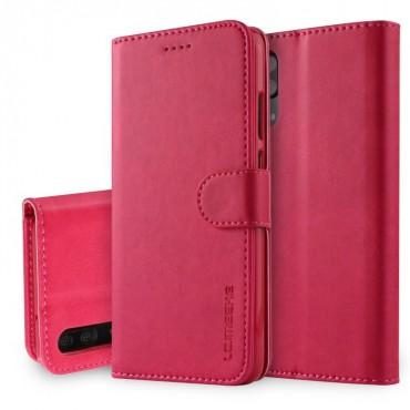 Луксозен кожен флип калъф/тип тефтер за Huawei P20, LC.IMEEKE, Розов